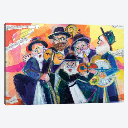 Singing In The New Year Canvas Print #MFE22} by Michele Pulver Feldman Canvas Art Print