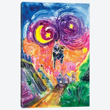The Fiddler Canvas Print #MFE24} by Michele Pulver Feldman Canvas Art