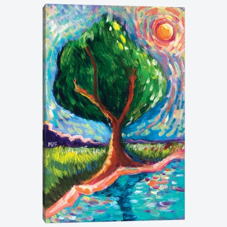 Van Gogh Tree Of Life Canvas Print #MFE28} by Michele Pulver Feldman Art Print