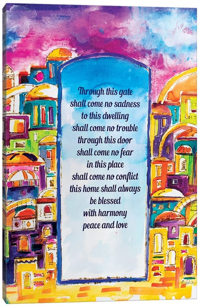 Golden Arches Home Blessing Canvas Art Print