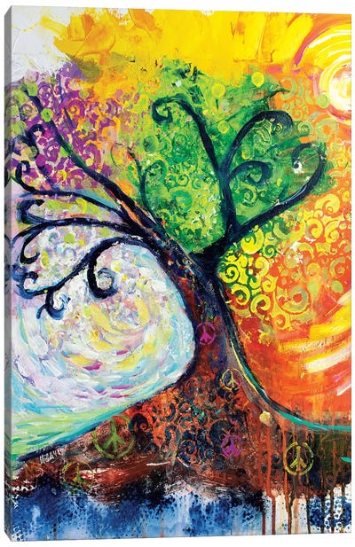 Banyan Tree Of Life Canvas Art Print