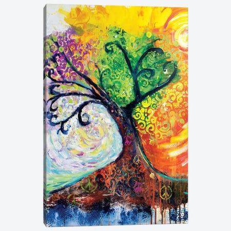Banyan Tree Of Life 3-Piece Canvas #MFE3} by Michele Pulver Feldman Art Print