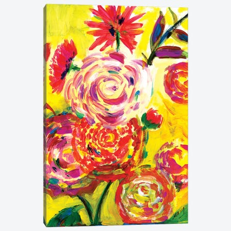 Say Hellow To Spring! Canvas Print #MFE46} by Michele Pulver Feldman Canvas Artwork