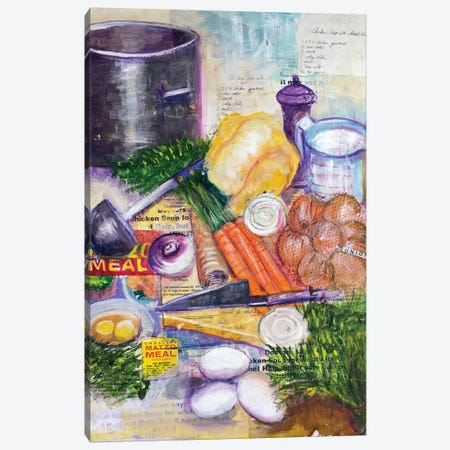 Chicken Soup Canvas Print #MFE4} by Michele Pulver Feldman Canvas Artwork