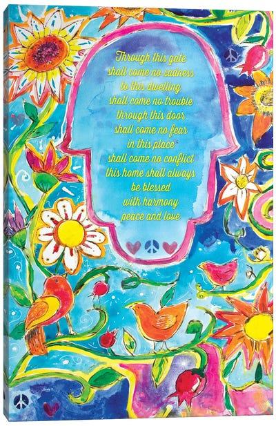 Garden of Eden Blessing For The Home Canvas Art Print