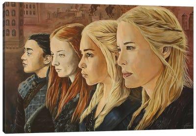 Dames Of Thrones Canvas Art Print