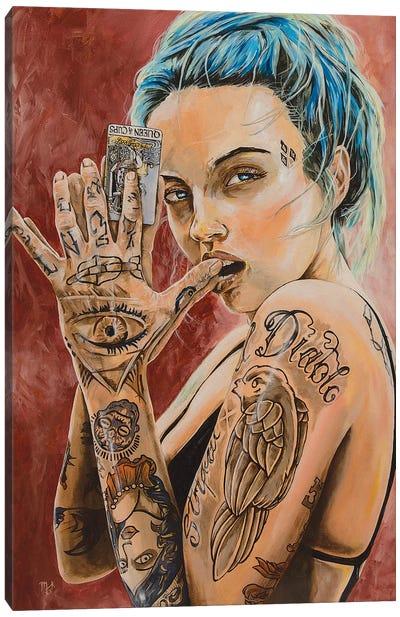The Approach Of Karma Canvas Art Print