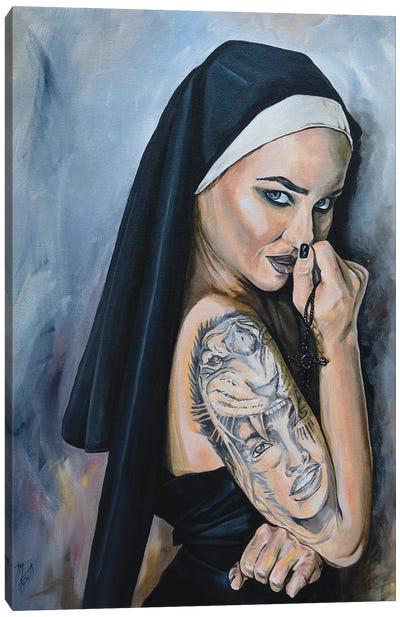 Wicked Nun 1 Canvas Art Print