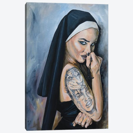 Wicked Nun 1 Canvas Print #MFX15} by Mark Fox Canvas Wall Art