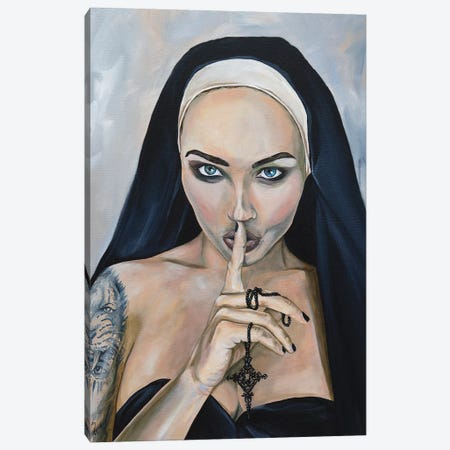 Wicked Nun 2 Canvas Print #MFX16} by Mark Fox Canvas Wall Art