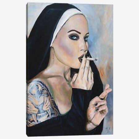 Wicked Nun 3 Canvas Print #MFX17} by Mark Fox Canvas Wall Art