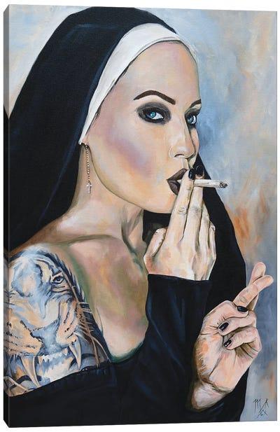 Wicked Nun 3 Canvas Art Print