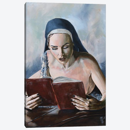 Wicked Nun 5 Canvas Print #MFX19} by Mark Fox Art Print