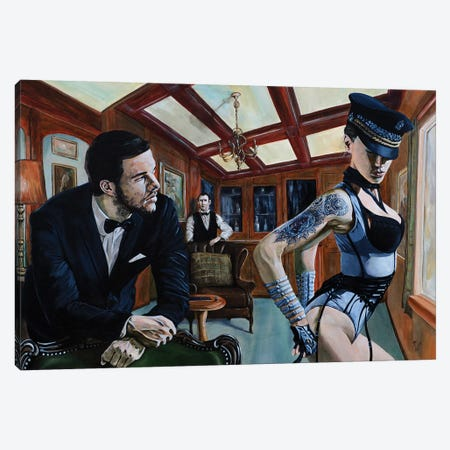Will There Be Anything Else, Sir? Canvas Print #MFX21} by Mark Fox Canvas Artwork