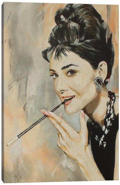 Audrey Canvas Art Print