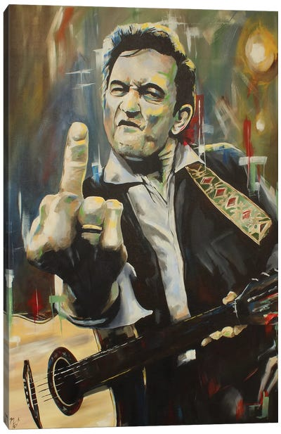 Hello, I'm Johnny Cash Canvas Art Print