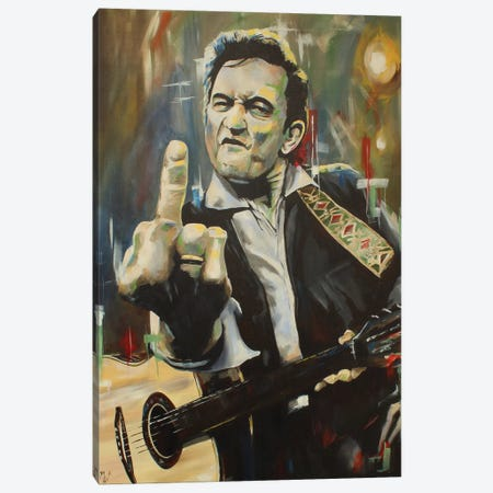 Hello, I'm Johnny Cash} by Mark Fox Canvas Art Print