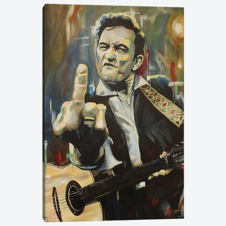 Hello, I'm Johnny Cash Canvas Print #MFX25} by Mark Fox Canvas Art Print