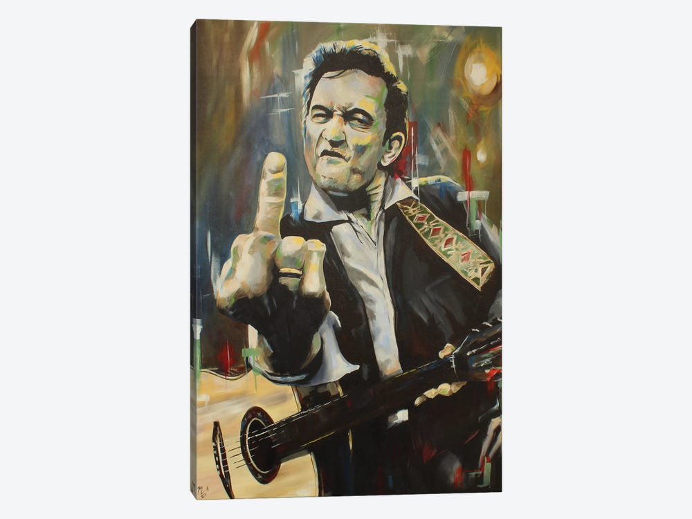 Hello, I'm Johnny Cash by Mark Fox 1-piece Canvas Artwork