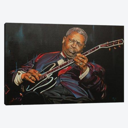 King of the Blues Canvas Print #MFX27} by Mark Fox Canvas Art Print