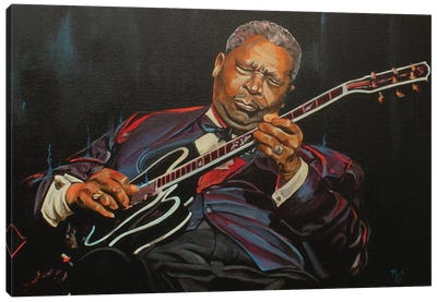 King of the Blues Canvas Art Print