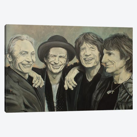 Rolling Stones Canvas Print #MFX33} by Mark Fox Canvas Print