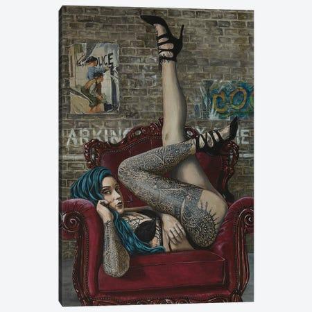 I Really Don't Care Anymore Canvas Print #MFX38} by Mark Fox Art Print