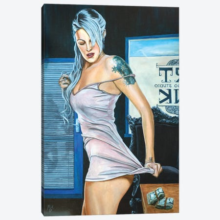 Birthday Money Canvas Print #MFX3} by Mark Fox Canvas Art Print