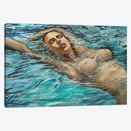 Becoming Ophelia Canvas Print #MFX44} by Mark Fox Art Print