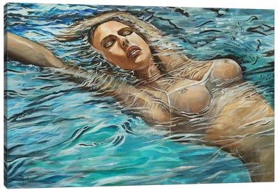 Becoming Ophelia Canvas Art Print