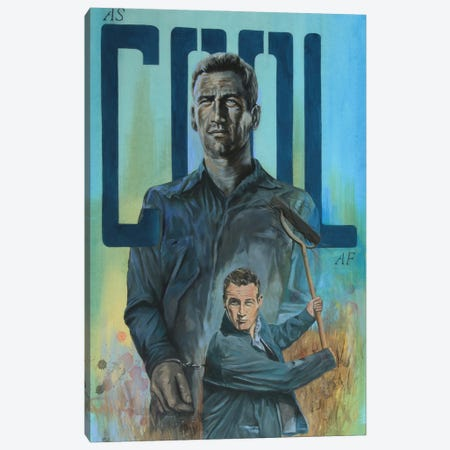 As Cool As. Newman Canvas Print #MFX49} by Mark Fox Canvas Artwork