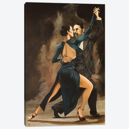 Tango in Red Shoes 3-Piece Canvas #MFX59} by Mark Fox Canvas Art Print