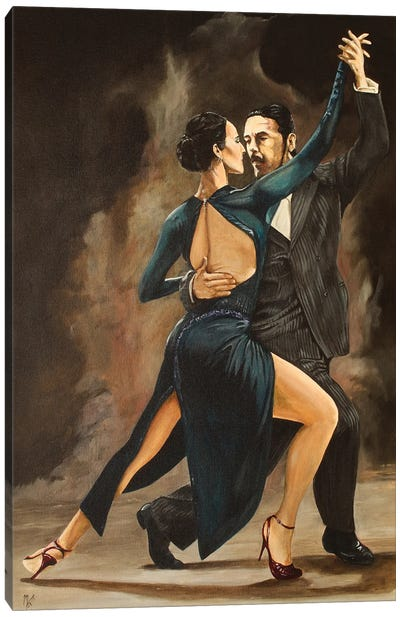 Tango in Red Shoes Canvas Art Print