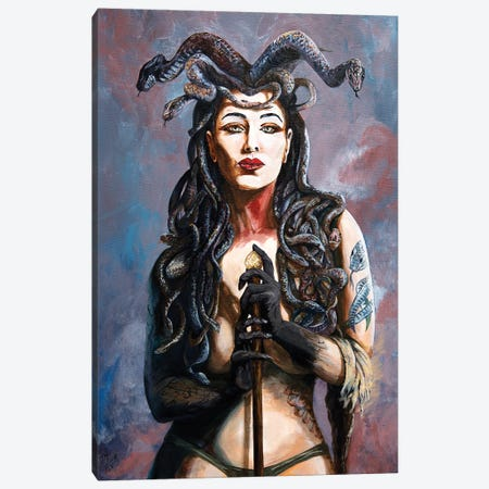 Contemplation Of The Gorgon Canvas Print #MFX5} by Mark Fox Canvas Artwork