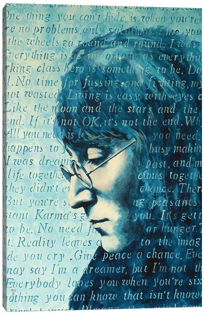 Working Class Hero Canvas Art Print