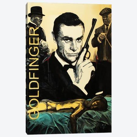 Goldfinger Canvas Print #MFX72} by Mark Fox Canvas Art Print