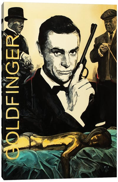 Goldfinger Canvas Art Print