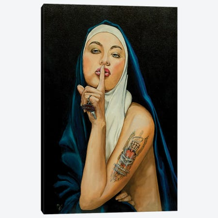 Don't Tell A Soul Canvas Print #MFX7} by Mark Fox Canvas Art