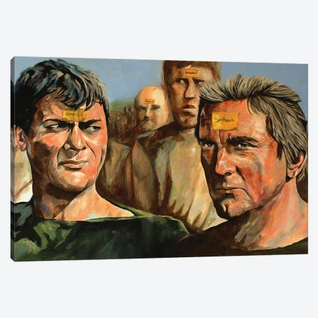 I'm Spartacus Canvas Print #MFX80} by Mark Fox Canvas Artwork