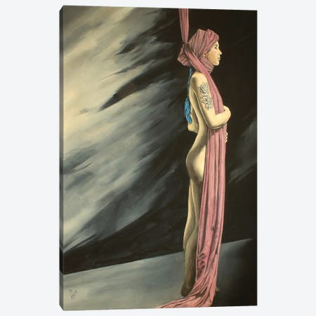 Not Now, I'm Busy Canvas Print #MFX91} by Mark Fox Art Print