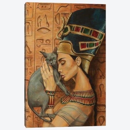 Serene Queen Canvas Print #MFX95} by Mark Fox Canvas Artwork