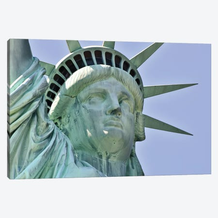 Statue Of Liberty Canvas Print #MFZ56} by Michael Fitzsimmons Canvas Wall Art