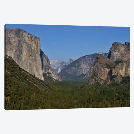 Tunnel View In Yosemite Canvas Print #MFZ61} by Michael Fitzsimmons Canvas Art