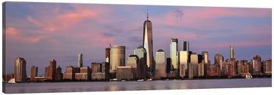 Manhattan Skyline At Sunset Canvas Art Print
