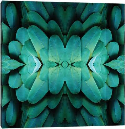 Blue Feather Pattern Canvas Art Print