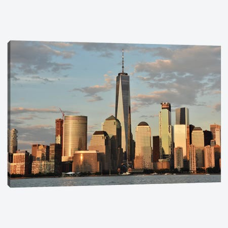Manhattan Skyline With The Freedom Tower (One World Trade Center) Canvas Print #MFZ78} by Michael Fitzsimmons Canvas Art Print