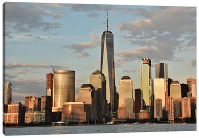 Manhattan Skyline With The Freedom Tower (One World Trade Center) Canvas Art Print
