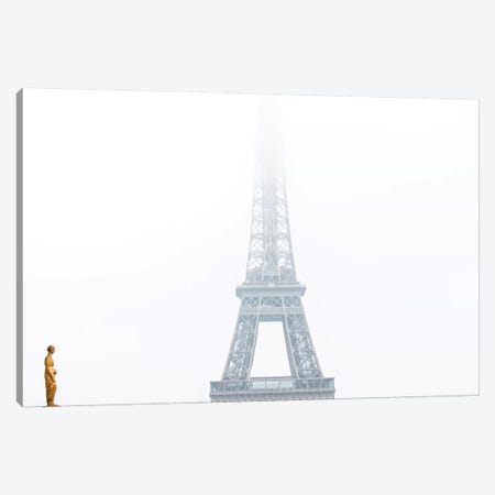 Eiffel In The Misty Morning Canvas Print #MGD1} by Magdalena Martin Canvas Print