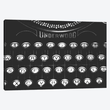 Underwood Typewriter 3-Piece Canvas #MGD22} by Magdalena Martin Art Print