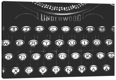 Underwood Typewriter Canvas Art Print